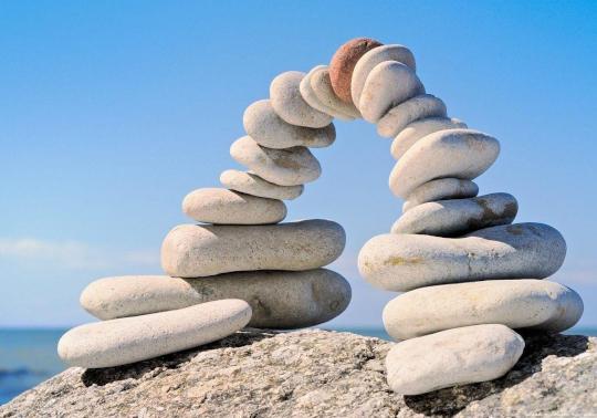 cailloux, construction, Dieu, équilibre, arche
