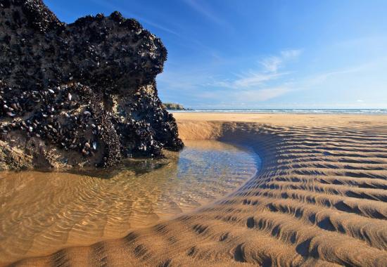 eau sous le sable